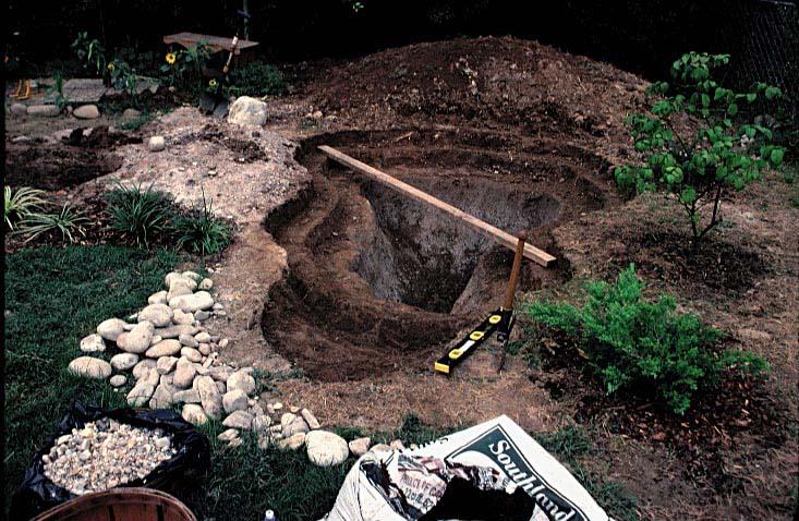 Dig for Digging a garden pond